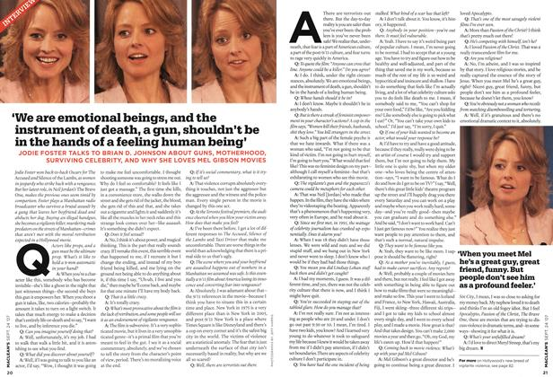 Article Preview: 'We are emotional beings, and the instrument of death, a gun, shouldn't be in the hands of a feeling human being', SEPT. 24th 2007 2007 | Maclean's