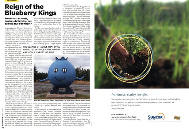 Article Preview: Reign of the Blueberry Kings, SEPT. 24th 2007 2007 | Maclean's