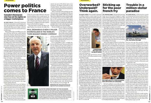 Article Preview: Power politics comes to France, SEPT. 24th 2007 2007 | Maclean's