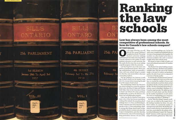 Article Preview: Ranking the law schools, SEPT. 24th 2007 2007 | Maclean's