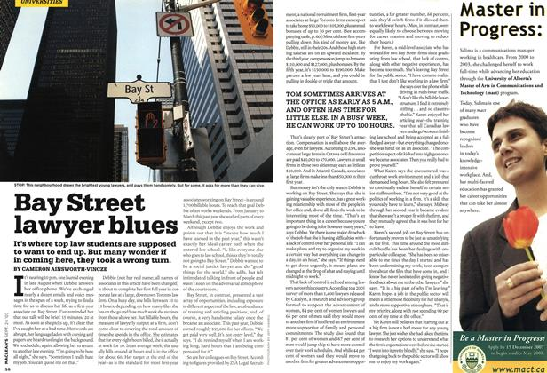 Article Preview: Bay Street lawyer blues, SEPT. 24th 2007 2007 | Maclean's