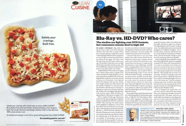 Article Preview: Blu-Ray vs. HD-DVD? Who cares?, SEPT. 24th 2007 2007 | Maclean's