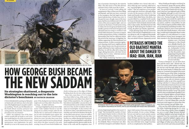 Article Preview: HOW GEORGE BUSH BECAME THE NEW SADDAM, OCT. 1st 2007 2007 | Maclean's