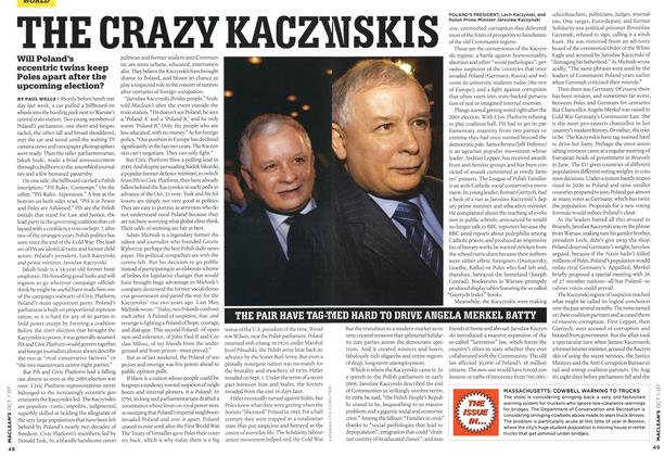 Article Preview: THE CRAZY KACZYNSKIS, OCT. 1st 2007 2007 | Maclean's