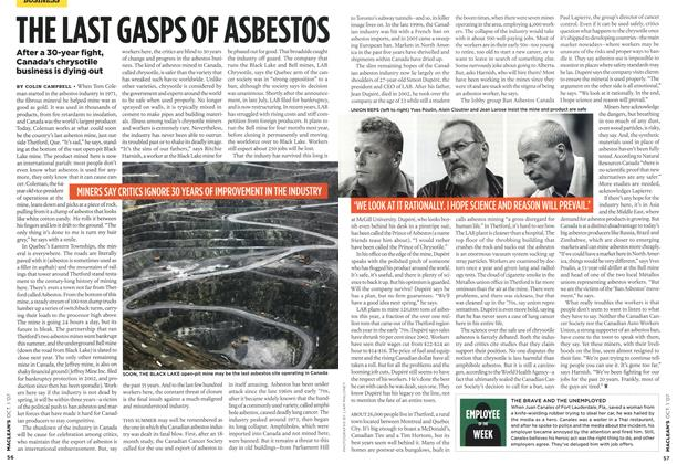Article Preview: THE LAST GASPS OF ASBESTOS, OCT. 1st 2007 2007 | Maclean's