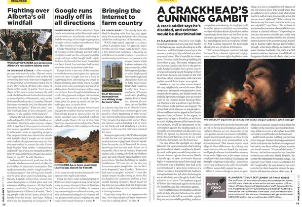 Article Preview: Bringing the Internet to farm country, OCT. 1st 2007 2007 | Maclean's