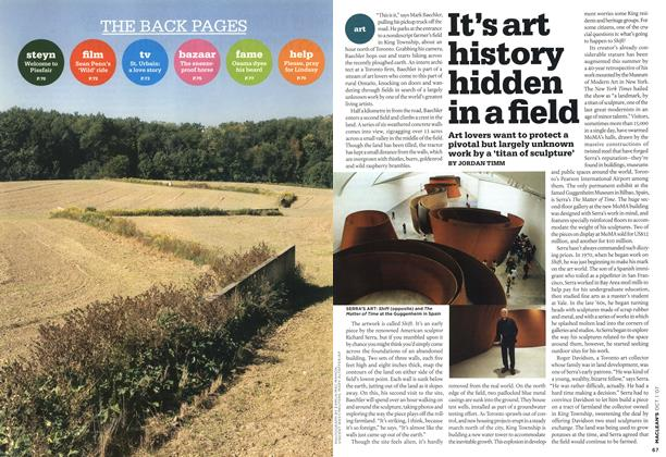 Article Preview: It's art history hidden in a field, OCT. 1st 2007 2007 | Maclean's