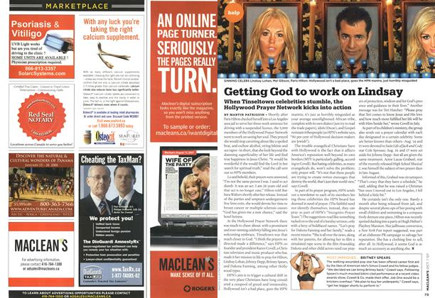 Article Preview: Getting God to work on Lindsay, OCT. 1st 2007 2007 | Maclean's
