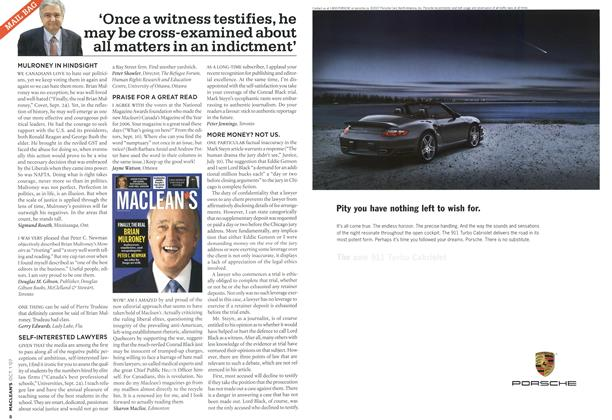 Article Preview: 'Once a witness testifies, he may be cross-examined about all matters in an indictment', OCT. 1st 2007 2007 | Maclean's