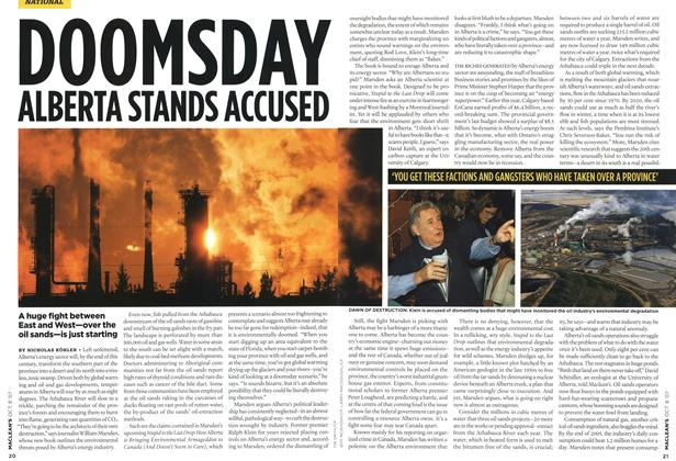 Article Preview: DOOMSDAY ALBERTA STANDS ACCUSED, OCT. 8th 2007 2007 | Maclean's