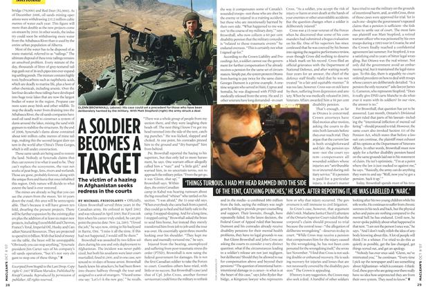 Article Preview: A SOLDIER BECOMES A TARGET, OCT. 8th 2007 2007 | Maclean's