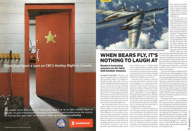 Article Preview: WHEN BEARS FLY, IT'S NOTHING TO LAUGH AT, OCT. 8th 2007 2007 | Maclean's