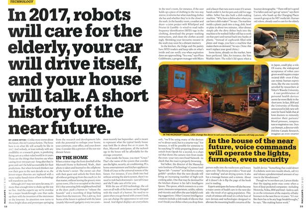 Article Preview: In 2017, robots will care for the elderly, your car will drive itself, and your house will talk. A short history of the near future., OCT. 8th 2007 2007 | Maclean's