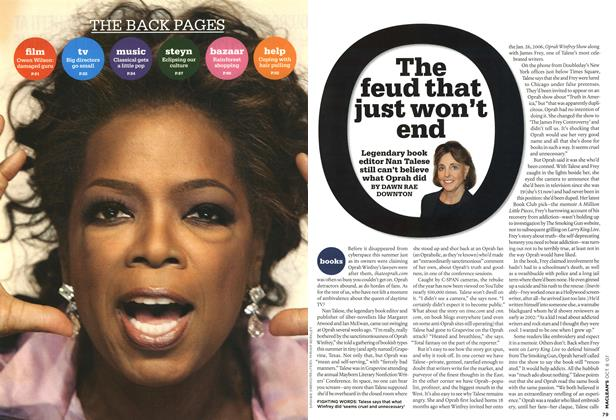 Article Preview: The feud that just won't end, OCT. 8th 2007 2007 | Maclean's