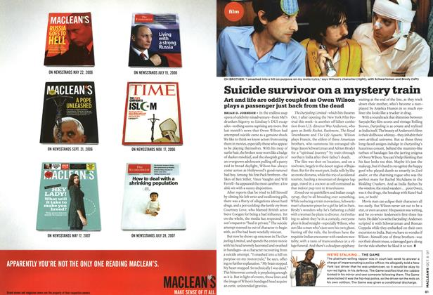 Article Preview: Suicide survivor on a mystery train, OCT. 8th 2007 2007 | Maclean's