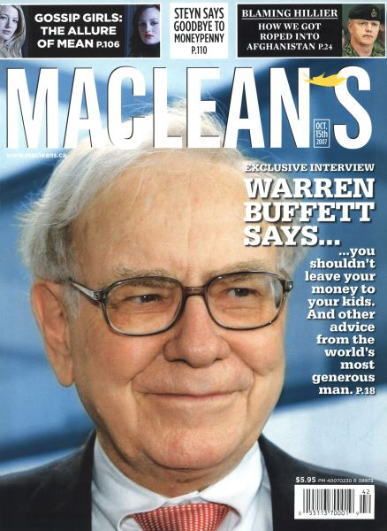 Issue: - OCT. 15th 2007 | Maclean's