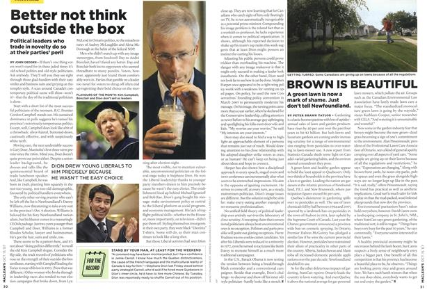 Article Preview: Better not think outside the box, OCT. 15th 2007 2007 | Maclean's