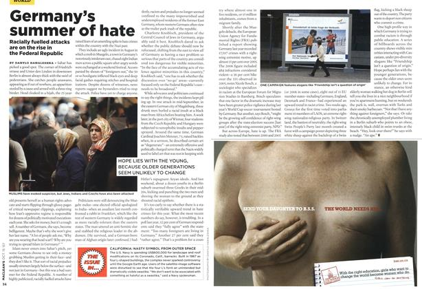 Article Preview: Germany's summer of hate, OCT. 15th 2007 2007 | Maclean's