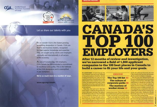 Article Preview: CANAD0A'S TOP 100 EMPLOYERS, OCT. 15th 2007 2007 | Maclean's