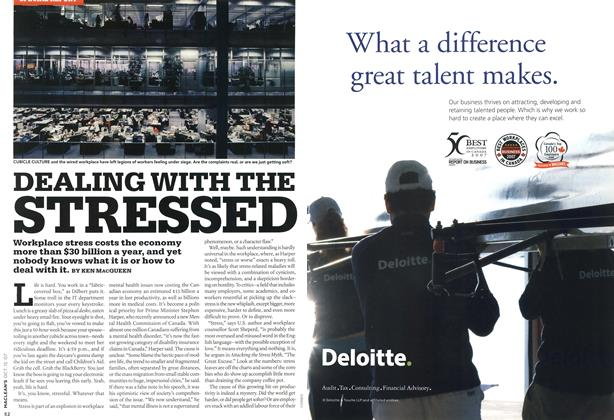 Article Preview: DEALING WITH THE STRESSED, OCT. 15th 2007 2007 | Maclean's