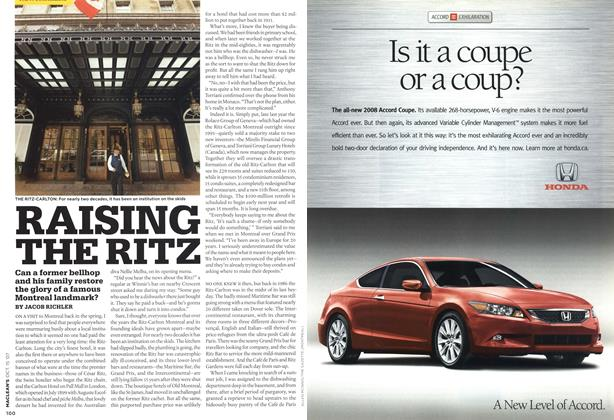 Article Preview: RAISING THE RITZ, OCT. 15th 2007 2007 | Maclean's