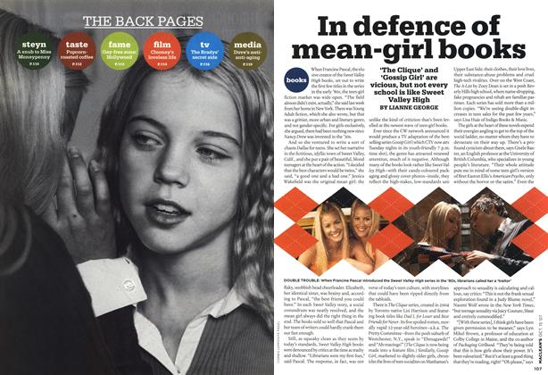 Article Preview: In defence of mean-girl books, OCT. 15th 2007 2007 | Maclean's