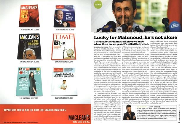 Article Preview: Lucky for Mahmoud, he's not alone, OCT. 15th 2007 2007 | Maclean's