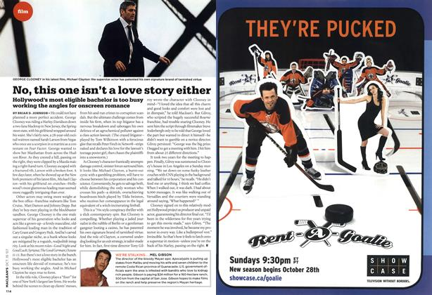 Article Preview: No, this one isn't a love story either, OCT. 15th 2007 2007 | Maclean's