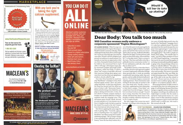 Article Preview: Dear Body: You talk too much, OCT. 15th 2007 2007 | Maclean's