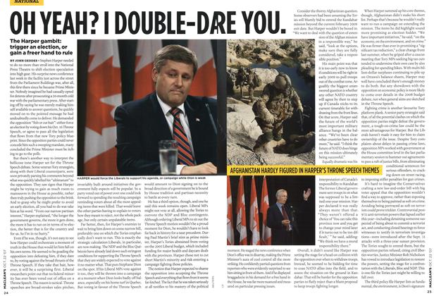 Article Preview: OH YEAH? I DOUBLE-DARE YOU., OCT. 22nd 2007 2007 | Maclean's