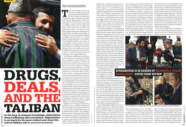 Article Preview: DRUGS, DEALS, AND THE TALIBAN, OCT. 22nd 2007 2007 | Maclean's