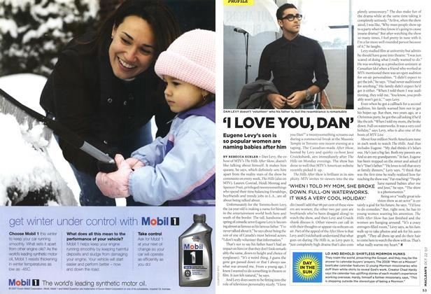 Article Preview: 'I LOVE YOU, DAN', OCT. 22nd 2007 2007 | Maclean's