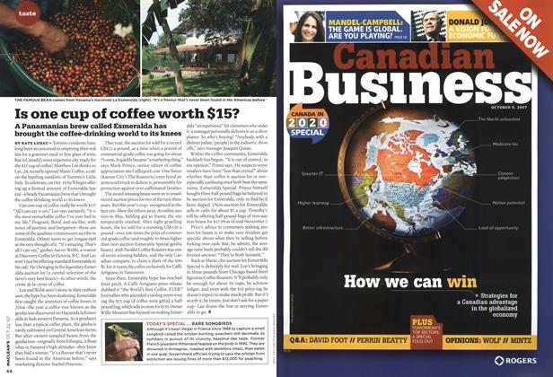 Article Preview: Is one cup of coffee worth $15?, OCT. 22nd 2007 2007 | Maclean's