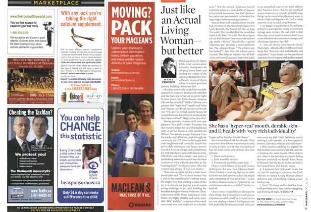 Article Preview: Just like an Actual Living Woman— but better, OCT. 22nd 2007 2007 | Maclean's
