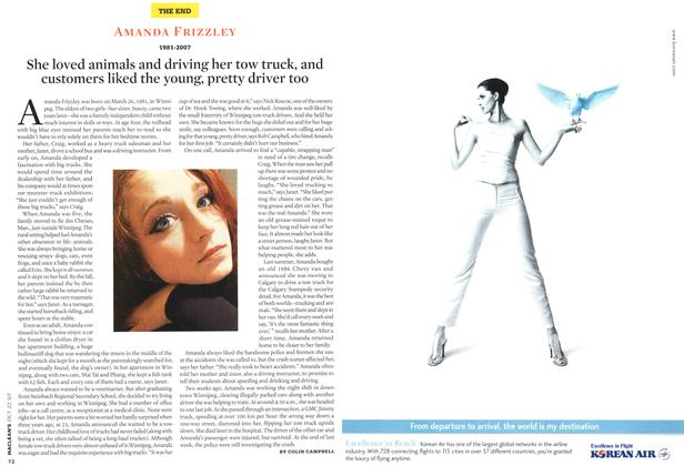 Article Preview: AMANDA FRIZZLEY 1981-2007, OCT. 22nd 2007 2007 | Maclean's