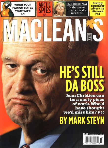 Issue: - OCT. 29th 2007 | Maclean's