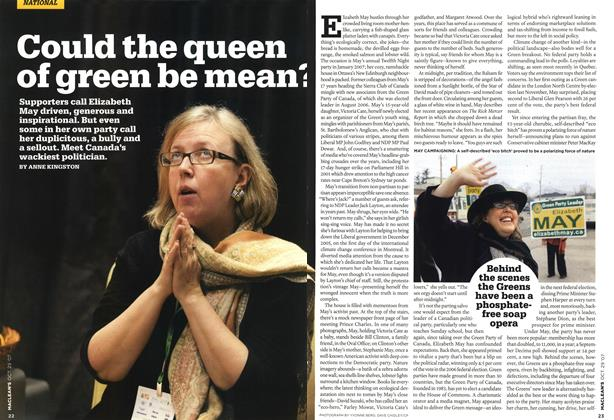 Article Preview: Could the queen of green be mean?, OCT. 29th 2007 2007 | Maclean's