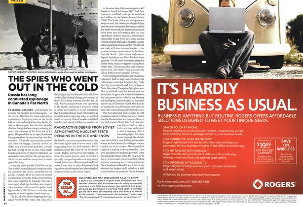 Article Preview: THE SPIES WHO WENT OUT IN THE COLD, OCT. 29th 2007 2007 | Maclean's