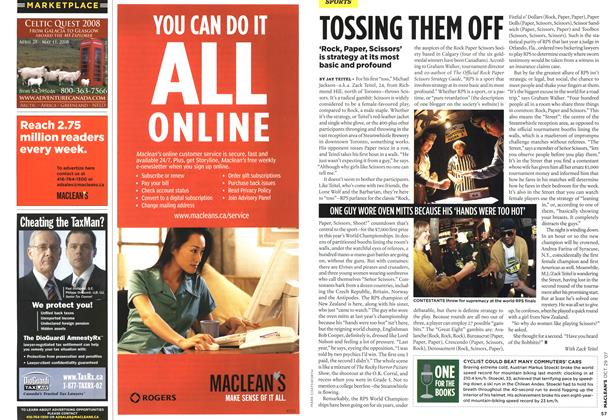 Article Preview: ONE FOR THE BOOKS, OCT. 29th 2007 2007 | Maclean's