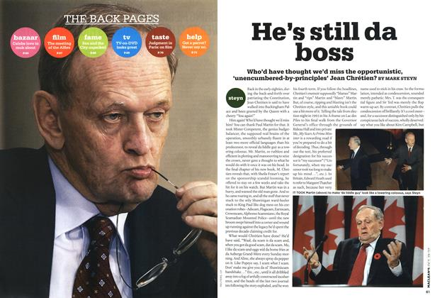 Article Preview: He's still da boss, OCT. 29th 2007 2007 | Maclean's