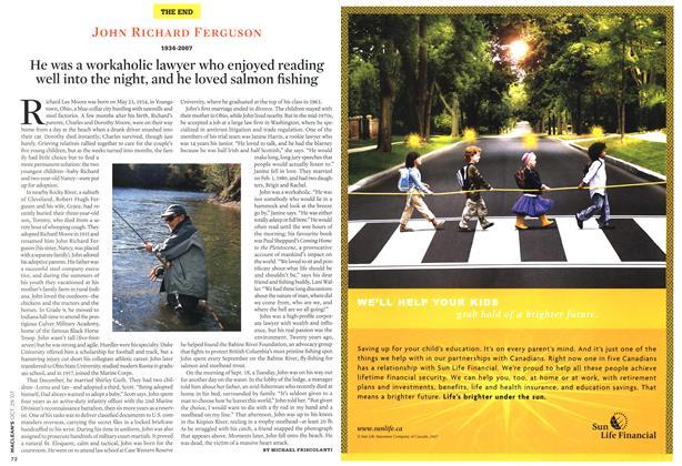 Article Preview: JOHN RICHARD FERGUSON 1934-2007, OCT. 29th 2007 2007 | Maclean's