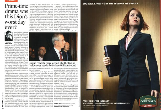 Article Preview: Prime-time drama: was this Dion's worst day ever?, OCT. 29th 2007 2007 | Maclean's