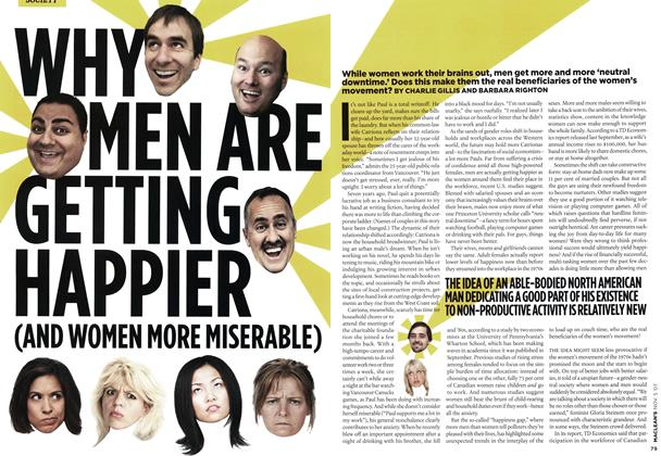 Article Preview: WHY MEN ARE GETTING HAPPIER (AND WOMEN MORE MISERABLE), NOV. 5th 2007 2007 | Maclean's
