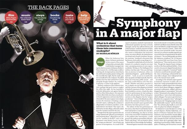Article Preview: Symphony in A major flap, NOV. 5th 2007 2007 | Maclean's