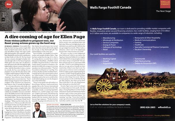 Article Preview: A dire coming of age for Ellen Page, NOV. 5th 2007 2007 | Maclean's