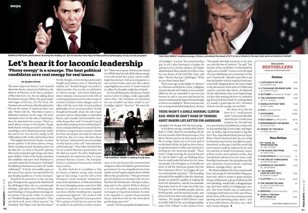 Article Preview: Let's hear it for laconic leadership, NOV. 5th 2007 2007 | Maclean's