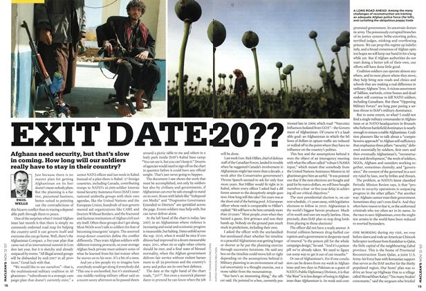 Article Preview: EXIT DATE: 20??, NOV. 12th 2007 2007 | Maclean's