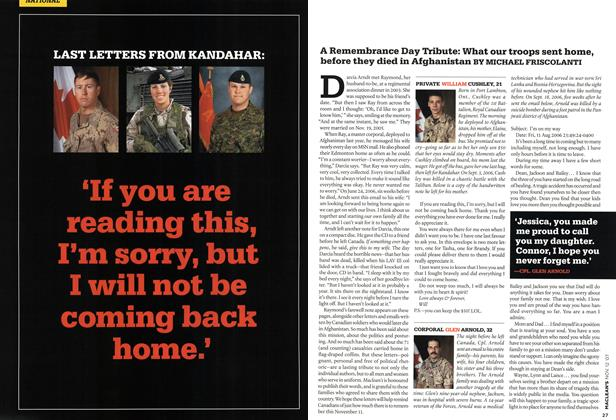 Article Preview: LAST LETTERS FROM KANDAHAR, NOV. 12th 2007 2007 | Maclean's