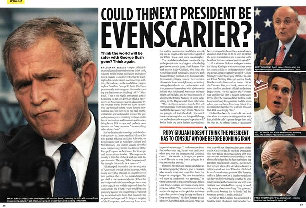 Article Preview: COULD THE NEXT PRESIDENT BE EVEN SCARIER?, NOV. 12th 2007 2007 | Maclean's