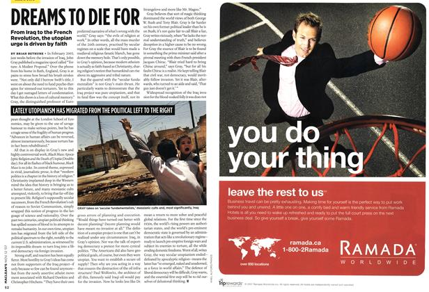 Article Preview: DREAMS TO DIE FOR, NOV. 12th 2007 2007 | Maclean's